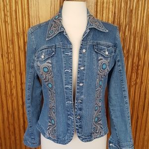 Christine Alexander Denim Sparkle Jacket